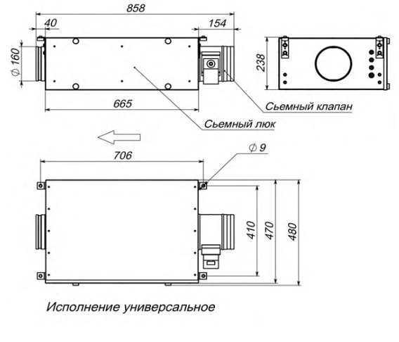 Приточная установка Breezart 550 Lux с электрическим нагревателем